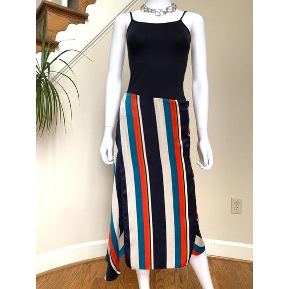 Zara color stripe skirt M